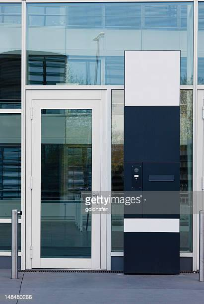 corporate entrance - intercom stock pictures, royalty-free photos & images