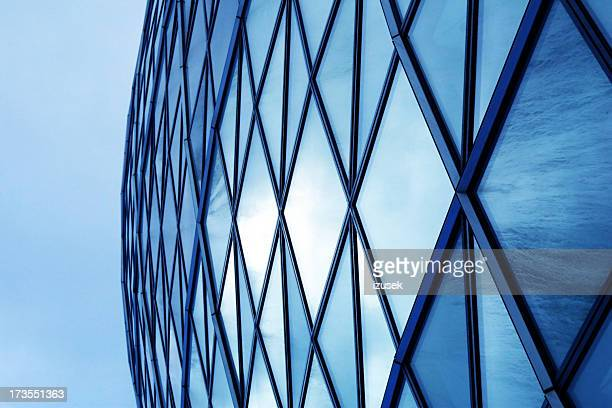 corporate glass building - izusek stock photos and pictures