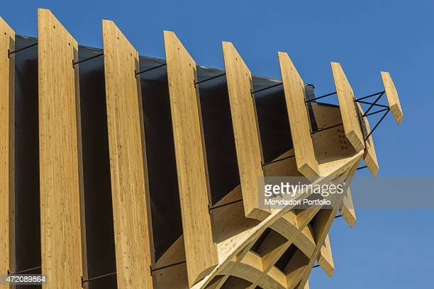 'Corporate group France 21st Century Italy Lombardy Milan Expo 2015 Detail exterior A pavilion built for Expo Milano 2015 ''Feeding the Planet Energy...