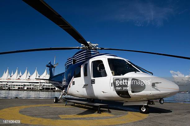 corporate helicopter - helicopter rotors stock photos and pictures