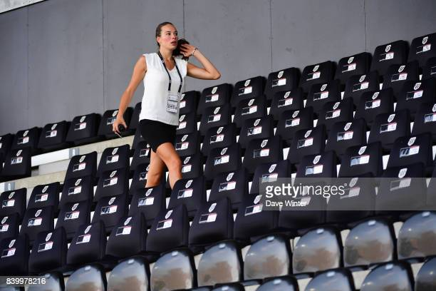 Corporate hospitality hostess before the Ligue 1 match between Angers SCO and Lille OSC at Stade Raymond Kopa on August 27 2017 in Angers
