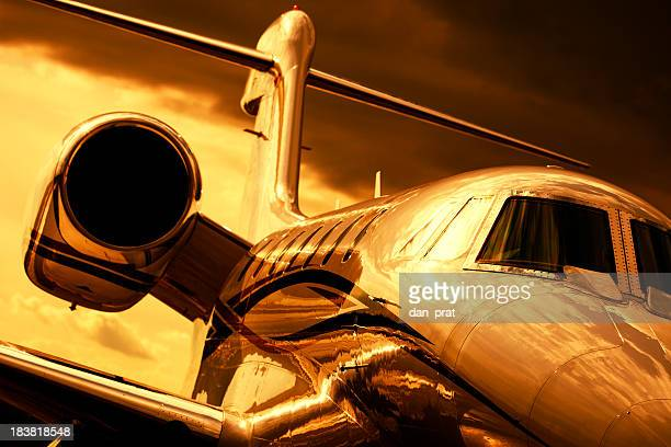 Corporate Jet Gold Toned