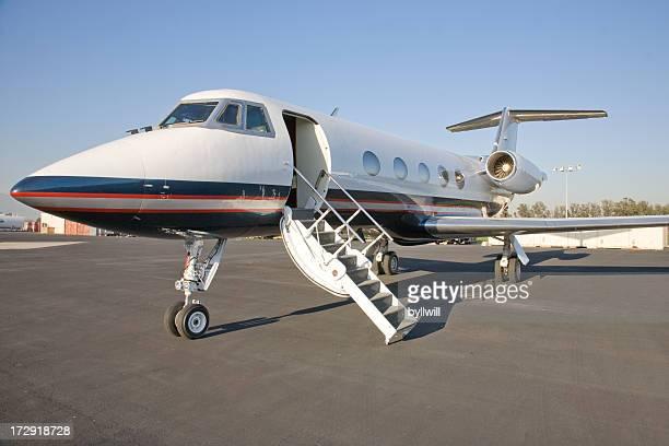 Corporate Jet with the door open