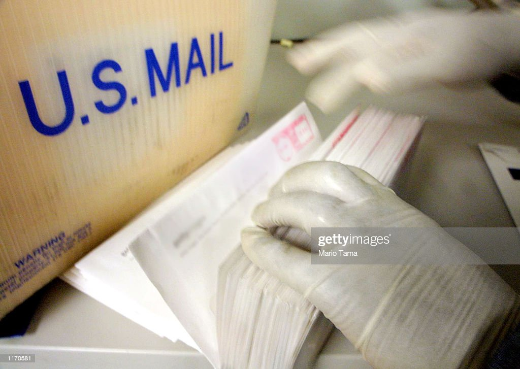 Mailroom Gloves in New York City : News Photo
