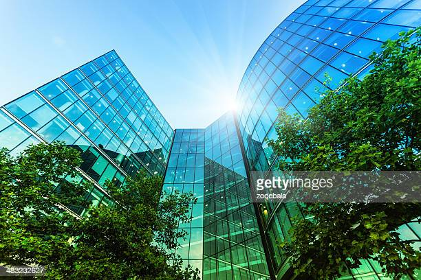 corporate modern offices building in london - london architecture stock pictures, royalty-free photos & images