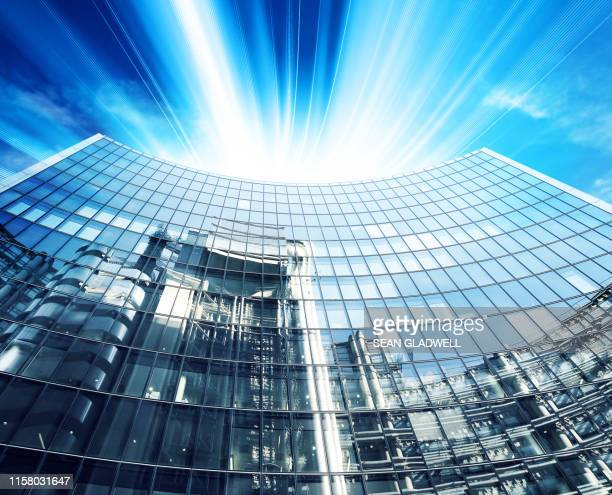 corporate modern offices - headquarters stock pictures, royalty-free photos & images
