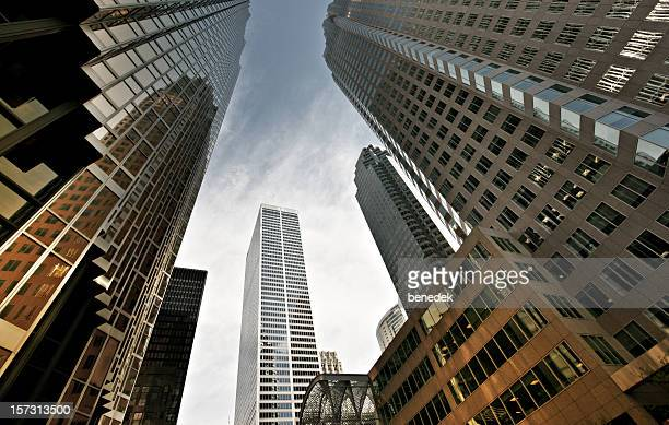 corporate office buildings - financial district stock pictures, royalty-free photos & images