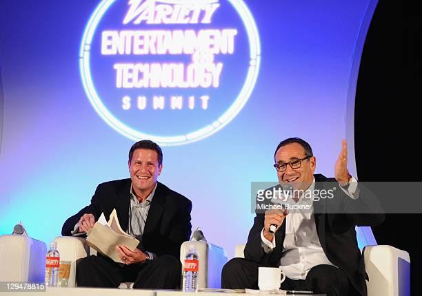 Corporate Strategy Business Development at Disney Kevin Mayer and Chairman CEO of Medialink LLC Michael Kassan speak at Variety's 2011 Entertainment...