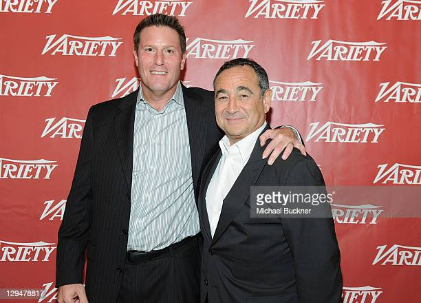 Corporate Strategy Business Development at Disney Kevin Mayer and Chairman CEO of Medialink LLC Michael Kassan attend Variety's 2011 Entertainment...