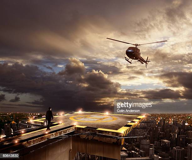 corporate travel - helipad stock photos and pictures