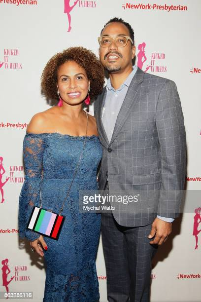 Corporate Vice President Inner City Broadcasting Keisha SuttonJames and husband Mike James attend the 'Kicked It In Heels' Cancer Fundraiser at...