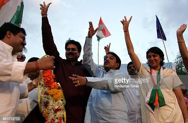 Corporater Kamlesh Rai, Harshwardhan Patil, Former Chief minister of Maharashtra Vilasrao Deshmukh Campaign for Priya Dutt at Sahar Village Andher.