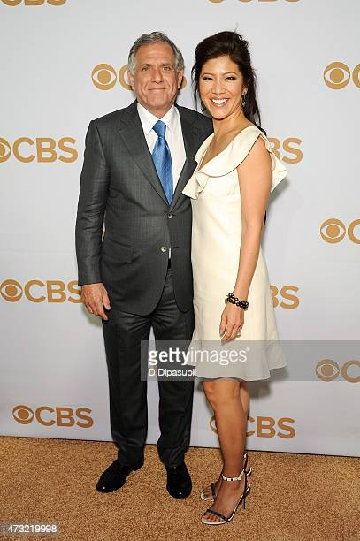 Corporation president and CEO Leslie Moonves and wife Julie Chen attend the 2015 CBS Upfront at The Tent at Lincoln Center on May 13 2015 in New York...