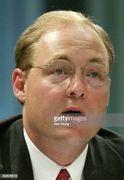 Corporation President and CEO Scott Ford testifies during a hearing reviewing telecommunications policy May 12 2004 before the Senate Committee on...