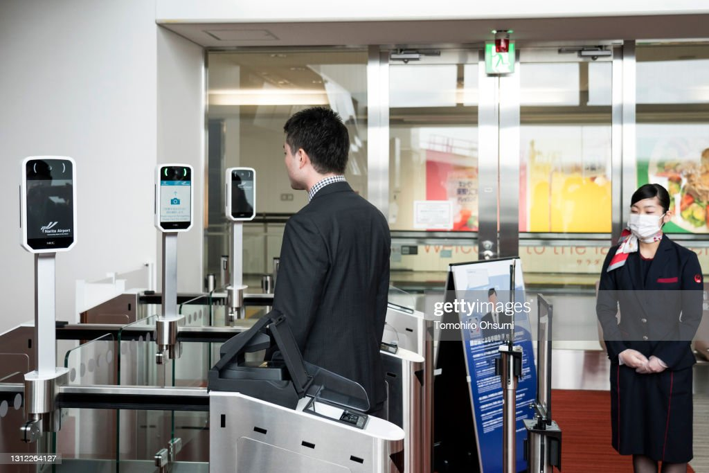 NEC Corp Trials New Face Recognition System At Narita International Airport : ニュース写真