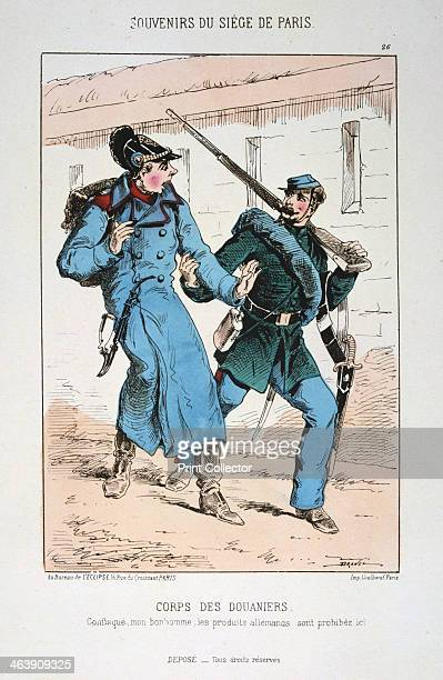 'Corps des Douaniers' Siege of Paris' FrancoPrussian war 18701871 A French soldier with a captured German After the disastrous defeat of the French...