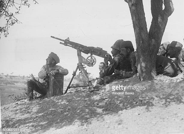 Corps Expenditionaire d'Orient A French machinegun in action against aircraft