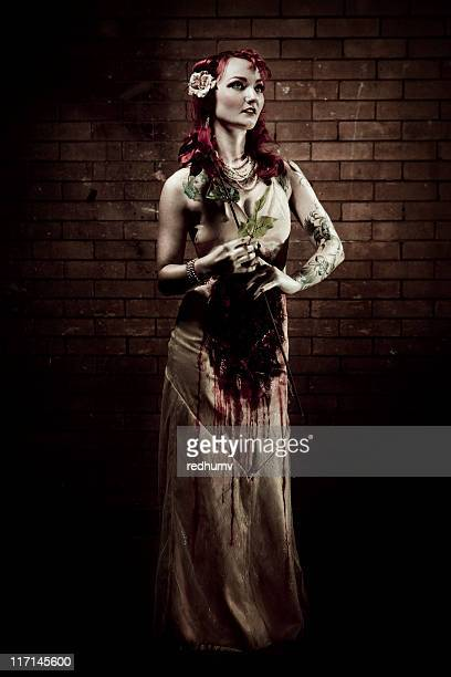 corpse bride - zombie girl stock photos and pictures