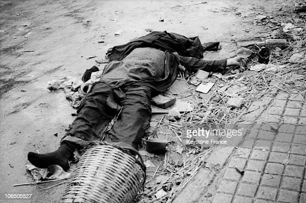Corpse Laying On The Pavement After The Capture Of The Basque Town By The Franco Supporters