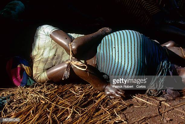 Tutsi peasants at Nyanza Hill were massacred by the army during the civil war in Rwanda | Location Nyanza Hill Rwanda