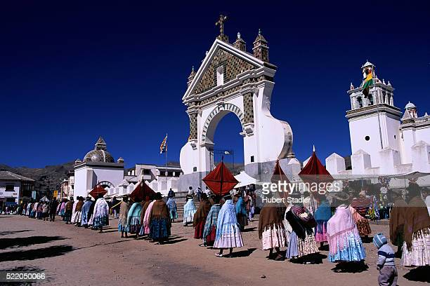 corpus christi procession in copacabana - bolivia stock pictures, royalty-free photos & images