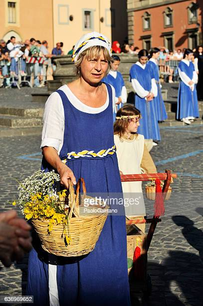 corpus domini day - orvieto stock pictures, royalty-free photos & images