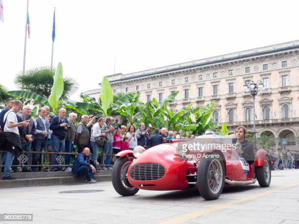 Corrado Minussi and Paolo Perego attends 1000 Miles Historic Road Race on May 19 2018 in Milan Italy