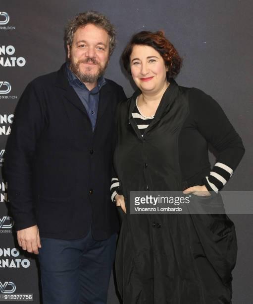 Corrado Nuzzo and Maria Di Biase attend 'Sono Tornato' photocall on January 30 2018 in Milan Italy