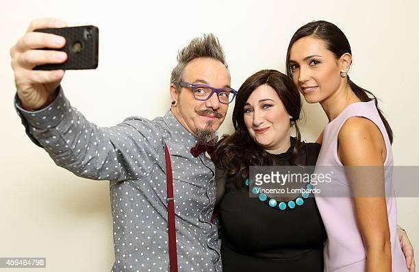 Corrado Nuzzo Maria Di Biase and Caterina Balivo attend the 'Quelli Che Il Calcio' Tv Show on November 23 2014 in Milan Italy