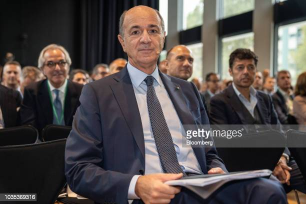 Corrado Passera founder and chief executive officer of Spaxs SpA sits in the audience during the European Capital Markets in Milan Italy on Tuesday...