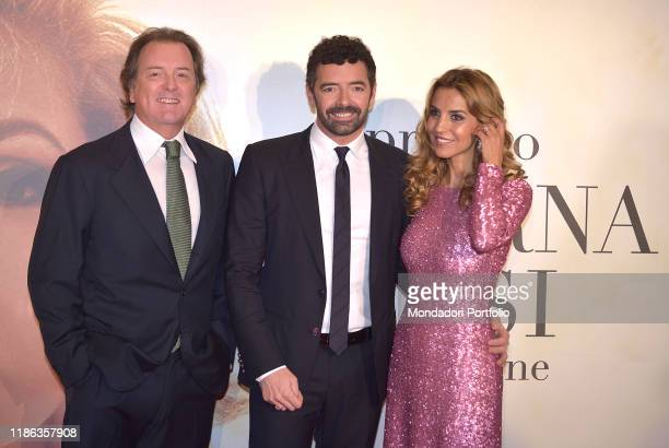 Corrado Pesci Alberto Matano and Veronica Pesci participate in the fifth edition of the Virna Lisi award at the Auditorium Parco della Musicaon...
