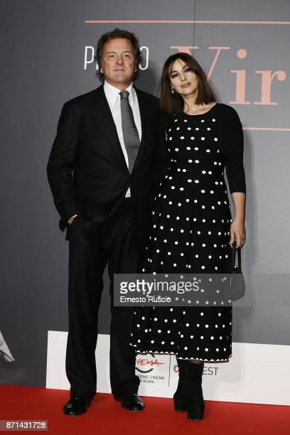 Corrado Pesci and Monica Bellucci attend The Virna Lisi Award at Auditorium Parco Della Musica on November 7 2017 in Rome Italy