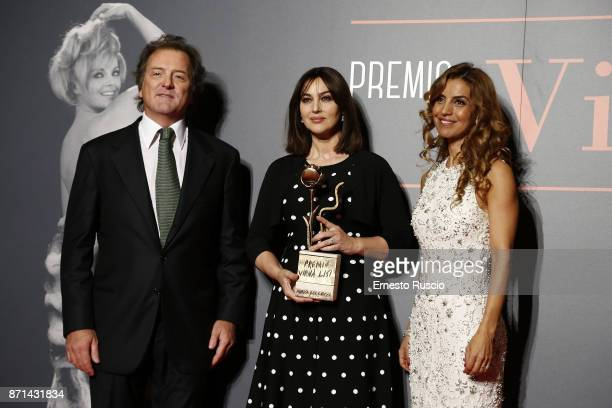 Corrado Pesci Monica Bellucci and Veronica Pesci attend The Virna Lisi Award at Auditorium Parco Della Musica on November 7 2017 in Rome Italy