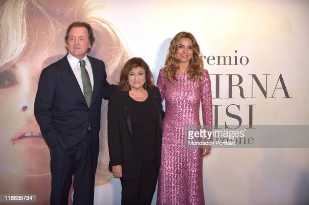 Corrado Pesci with her wife Veronica Pesci and Laura delle Colli Veronica Pesci participates in the fifth edition of the Virna Lisi award at the...