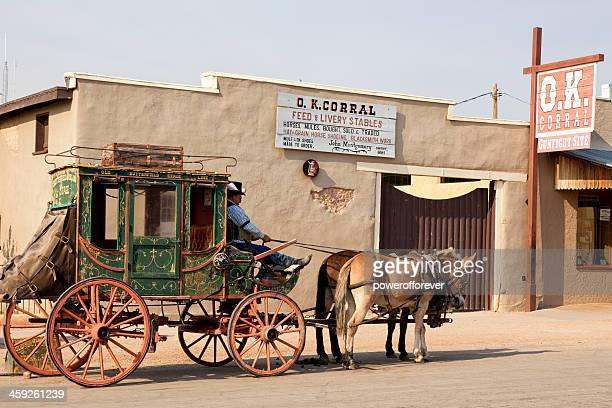 o.k. corral in tombstone, arizona - tombstone stock pictures, royalty-free photos & images