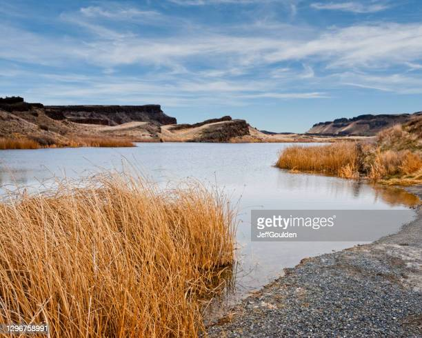corral lake in the eastern washington potholes - jeff goulden stock pictures, royalty-free photos & images