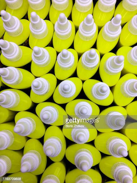 correction fluid bottles - correction fluid stock pictures, royalty-free photos & images