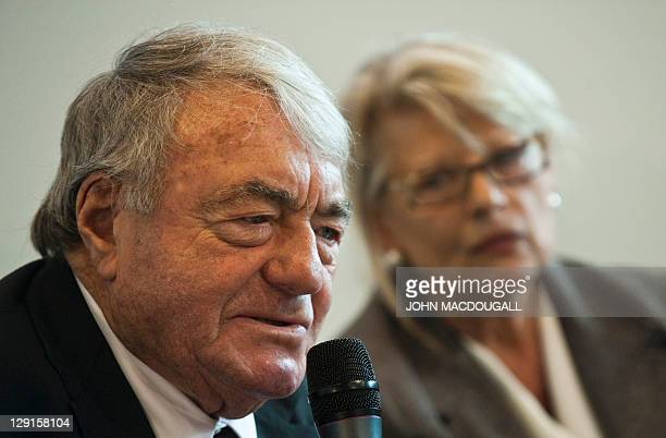 CORRECTION Corrects number of books to 9 for JDM002 JDM017 French writer and cinematographer Claude Lanzmann takes part in a presentation of Project...