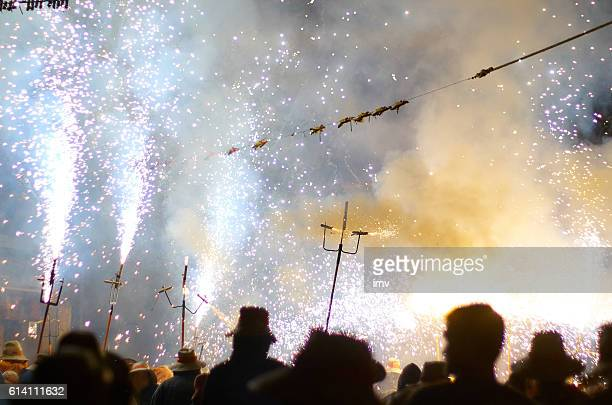 Correfoc - Spain traditional party in mediterranean area
