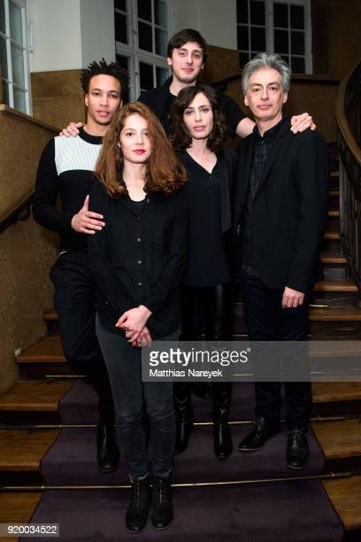 Correntin Fila Jenna Thiam Andranic Manet Sophie Verbeeck andJean Jean Paul Civeyrac attend the reception of 'A Paris Education' during the 68th...