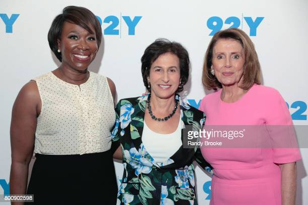 MSNBC correspondant cable television host and political commentator JoyAnn Reid poses with Susan Engel Executive Producer of '92Y Talks' and Nancy...