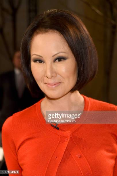 Correspondent Alina Cho attends the Oscar De La Renta fashion show during New York Fashion Week The Shows at The Cunard Building on February 12 2018...