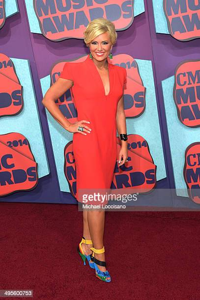 CMT correspondent Allison DeMarcus attends the 2014 CMT Music awards at the Bridgestone Arena on June 4 2014 in Nashville Tennessee