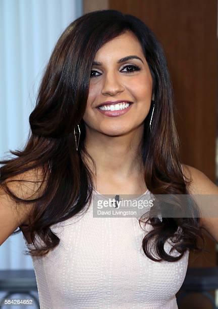Correspondent Amanda Salas poses at Hollywood Today Live at W Hollywood on July 28 2016 in Hollywood California