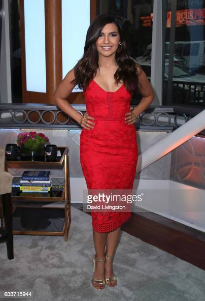 Correspondent Amanda Salas poses at Hollywood Today Live at W Hollywood on February 3, 2017 in Hollywood, California.