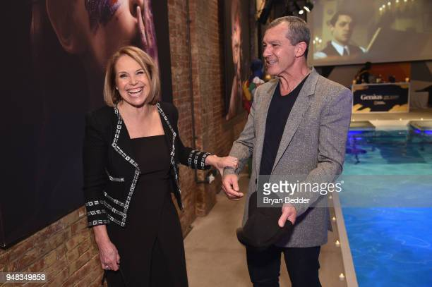 Correspondent and Executive Producer Katie Couric of 'America Inside Out With Katie Couric' and actor Antonio Banderas of 'Genius Picasso' attend...