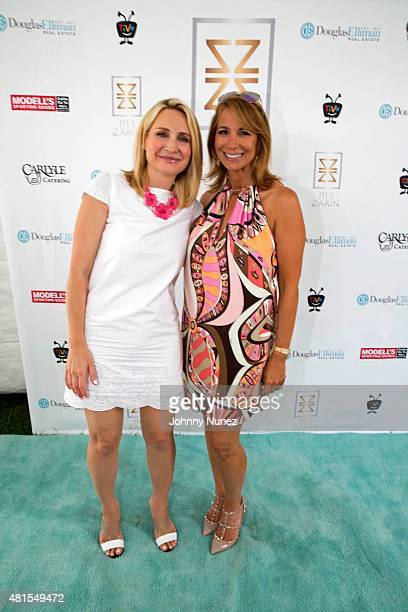 NBC correspondent Andrea Canning and TV personality Jill Zarin attend Jill And Bobby Zarin's 2015 Luxury Luncheon on July 18 in Southampton New York