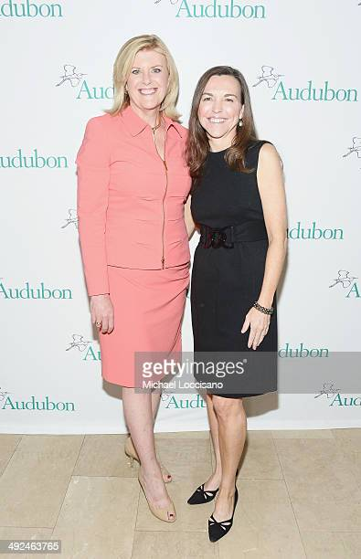 Correspondent Anne Thompson and Founding Chair of Women in Conservation Luncheon Allison Rockefeller attend the National Audubon Society's Women In...