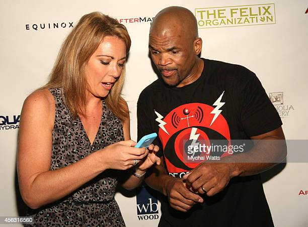 Correspondent Brooke Baldwin and Rap Artist Darryl DMC McDaniels attends 2014 Dance This Way>> at The Cutting Room on September 28 2014 in New York...