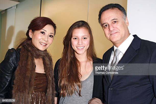 Correspondent Ellen Chu, daughter Josephine Becker and husband Arthur Becker attend Vera Wang Fall 2009 during Mercedes-Benz Fashion Week at 158...